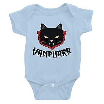 Vampurrr Funny Halloween Cute Graphic Design Baby Bodysuit Gift Sky Blue