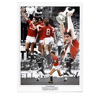 Norman Whiteside Signed Manchester United Photo