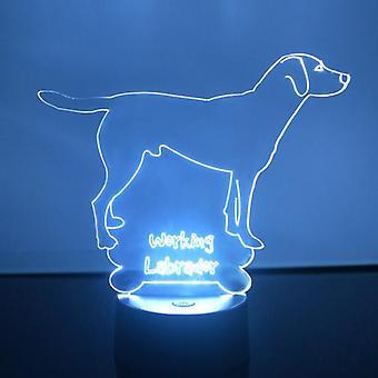 Arbeider Labrador hunden farge skiftende LED akryl lys