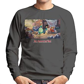 An American Tail Bridget Gives Fievel A Home Men's Sweatshirt