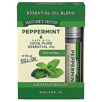 Nature's truth essential oil blend roll-on, peppermint, 0.33 oz