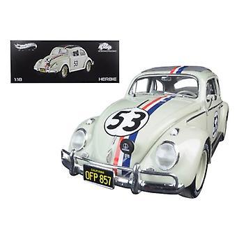 1963 Volkswagen Beetle Herbie Goes to Monte Carlo #53 Elite Edition 1/18 Diecast Model Car par Hotwheels
