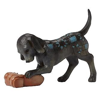 Jim Shore Heartwood Creek Buster - Dog With Shoe Figurine