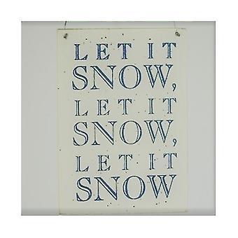 Let It Snow Shoeless Joe Plaque