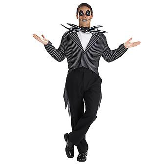 Jack Skellington Classic The Nightmare Before Christmas Teen Boys Mens Costume M
