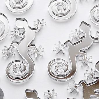Gecko Lizard Mini Craft en kleinbedrijf acryl spiegels (10Pk)