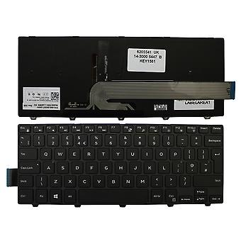 Dell Inspiron 14 7447 Black Frame Backlit Black Windows 8 UK Layout Replacement Laptop Keyboard