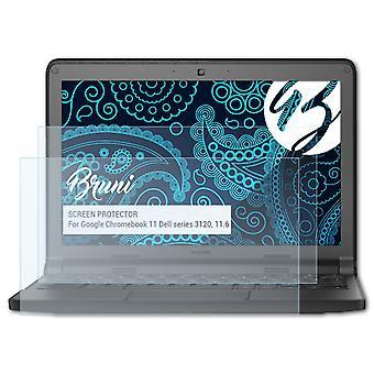 Bruni 2x Näytönsuoja yhteensopiva Google Chromebook 11 Dell-sarjan 3120, 11,6 tuumaa