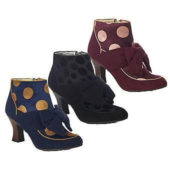 Ruby Shoo Women's Seren Mid Heel Bow Boots