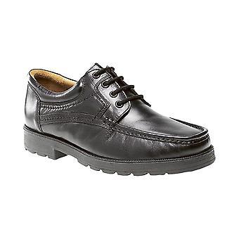 Roamers Black Softie Leather 4 Eye Apron Gibson Shoe