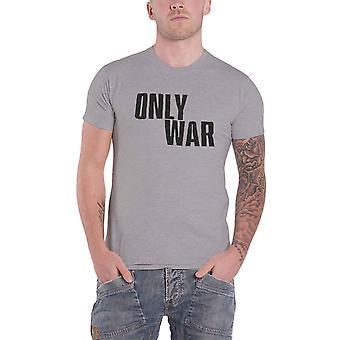 Warhammer 40k T Shirt Only War Vintage logo new Official Gamer Mens Grey