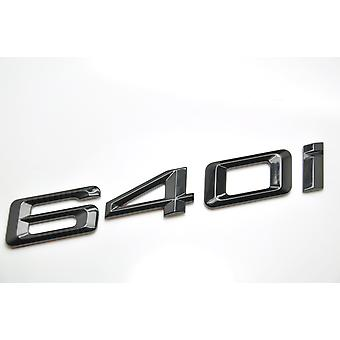 Gloss Black BMW 640i bilmodel bageste boot nummer brev mærkat decal badge emblem for 6-serien E63. E64 F06 F12 F13 G32
