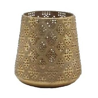 Laterne Gold Metall 13 cm