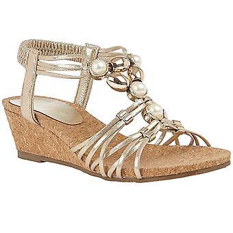 Lotus Amy Womens Slip On Wedge Schoenen