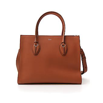 Tod's Xbwanyo0300mr5g807 Women's Brown Leather Tote