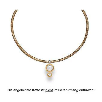 Bastian Inverun Gümüş Kolye Kısmen Verg. rhod. mat üreme inci beyaz 23261