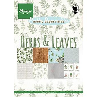 Marianne Design Bloc Herbs & leaves A5 PK9152