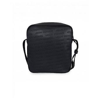 Armani Exchange Embossed Script Zip Cross Body Bag