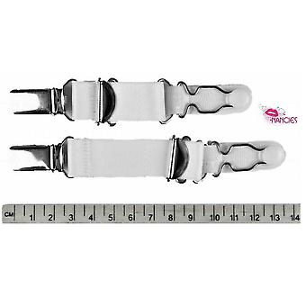 Nancies Lingerie 4 Pack Adjustable Suspender / Garter Clips for Stockings