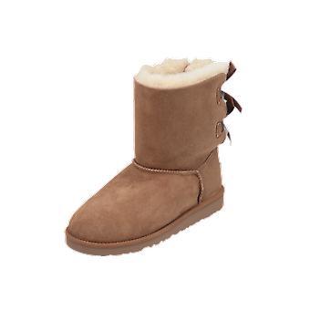 UGG بيلي القوس أطفال الأحذية البيج الدانتيل متابعة الأحذية الشتاء
