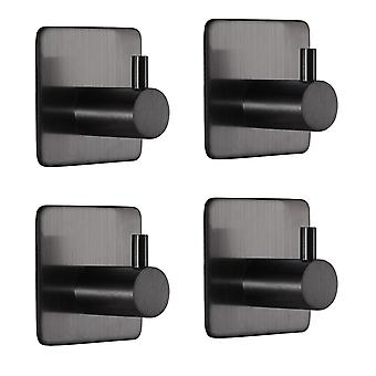 4 PC Square Hook Sticky stainless steel