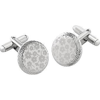 Duncan Walton Braxton Essential Floral Cufflinks - Silver