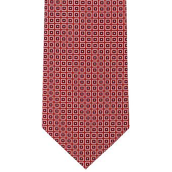 Michelsons van Londen klassieke diamant afdrukken zijden stropdas - rood