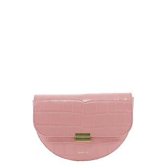 Wandler Annacrococalfleatherblossom Women's Pink Leather Pouch