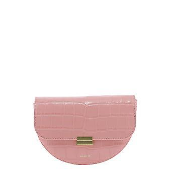 Wandler Annacrococalfleatherblossom Mujeres's Bolsa de cuero rosa