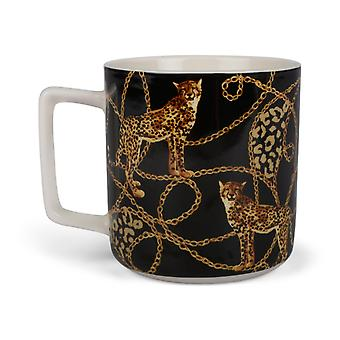 Mug Leopard Black 4-Pack