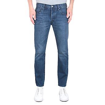 Levi's Premium 501 Slim Fit Tapered Dark Blue Wash Denim Jeans