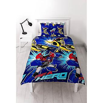 Transformers Childrens/Kids Hero Single Rotary Duvet Cover Set