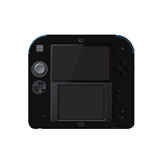 For Nintendo 2DS Soft Silicone Handheld Console Protector Skin Cover Shell Case[Black]