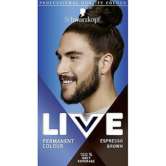 Schwarzkopf Live Permanent Hair Color For Men - Espresso Brown 880