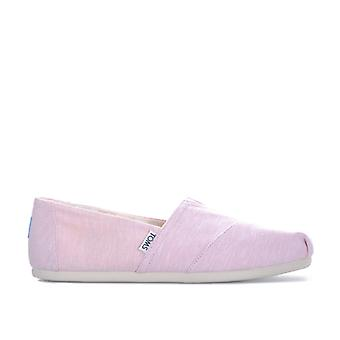 Women's Toms Classics Chambray Espadrille Pumps in Pink