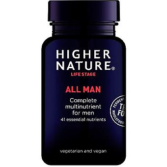 Higher Nature True Food All Man Vegetable Capsules 90 (TMAN090)