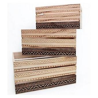 African Print Crates (Set Of 3)