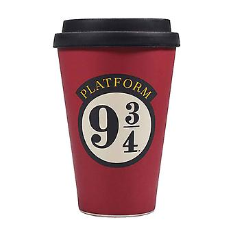 Harry Potter Travel Mug Plate-forme 9 3/4 Logo nouveau Bamboo Officiel Rouge
