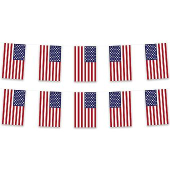 Pack of 3 United States of America USA Bunting 15m Polyester Country National