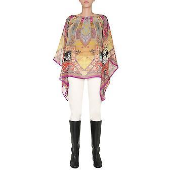 Etro 158044546650 Frauen's Multicolor Seide Bluse