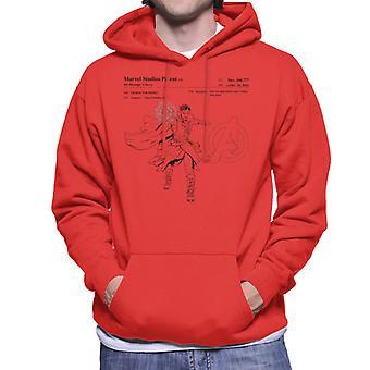 Marvel Avengers Infinity Krieg Arzt seltsam Patent Herren Sweatshirt mit Kapuze