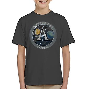 NASA Apollo Program Logo Badge Distressed Kid's T-Shirt