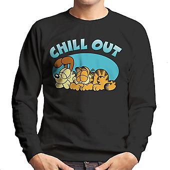 Garfield And Odie Chilling Out Men's Sweatshirt