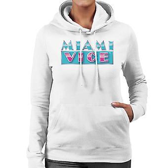 Miami Vice reflecterende logo vrouwen ' s Hooded Sweatshirt