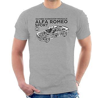 ヘインズ所有者ワーク ショップ マニュアル 0292 アルファロメオ スポーツ ブラック メンズ t シャツ