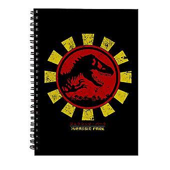 Jurassic Park Retro Japansk Spiral Notebook