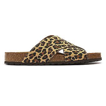 TOWER London Mimosa Womens Leopard Slides