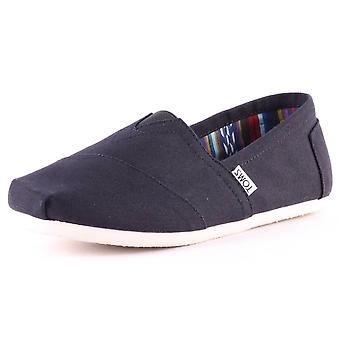 Toms Classic Mens Slip On Shoes in Black