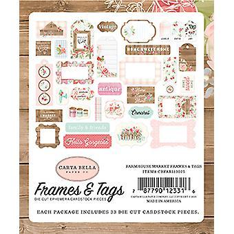 Carta Bella Farmhouse Market Frames & Tags