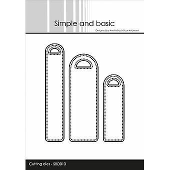 Enkel och grundläggande Pierced Etiketter Metal Dies